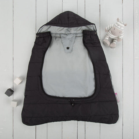 Comfi-Cape 2in1 Carrier Cape and Stroller Liner - Liquorice
