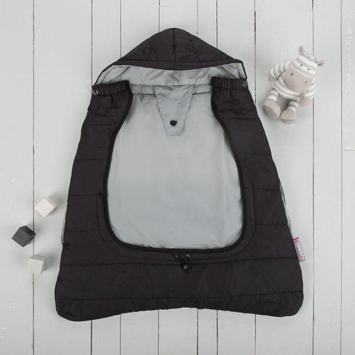 Comfi-Cape 2in1 Carrier Cape and Stroller Liner - Liquorice On The Go cuddleco