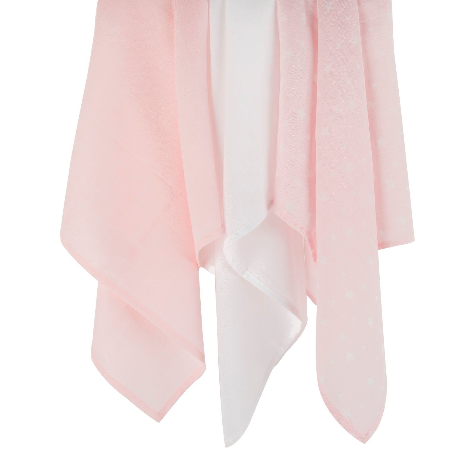 Mother&Baby Organic Cotton Muslins 6 Pack - Pink Star
