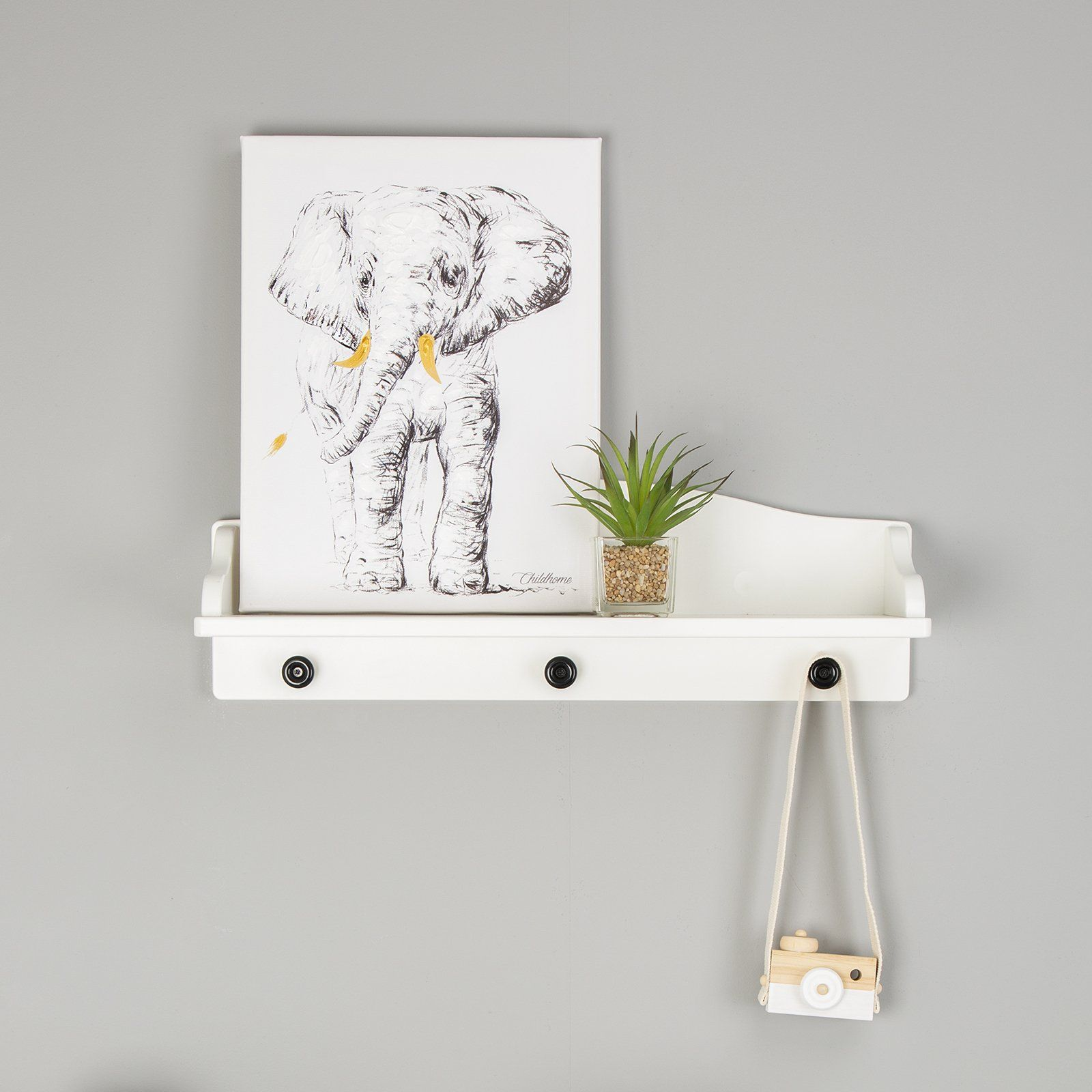 Oil Painting Elephant Head Nursery Decor Childhome