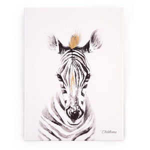 Oil Painting Zebra Head Nursery Decor Childhome