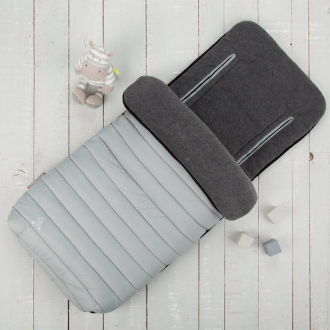 Comfi-Snug 2in1 Footmuff & Liner - Pewter