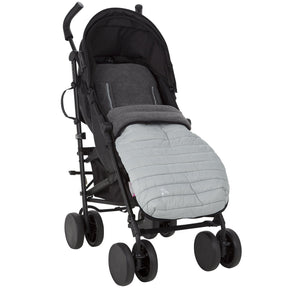comfi snug 2in1 footmuff liner pewter