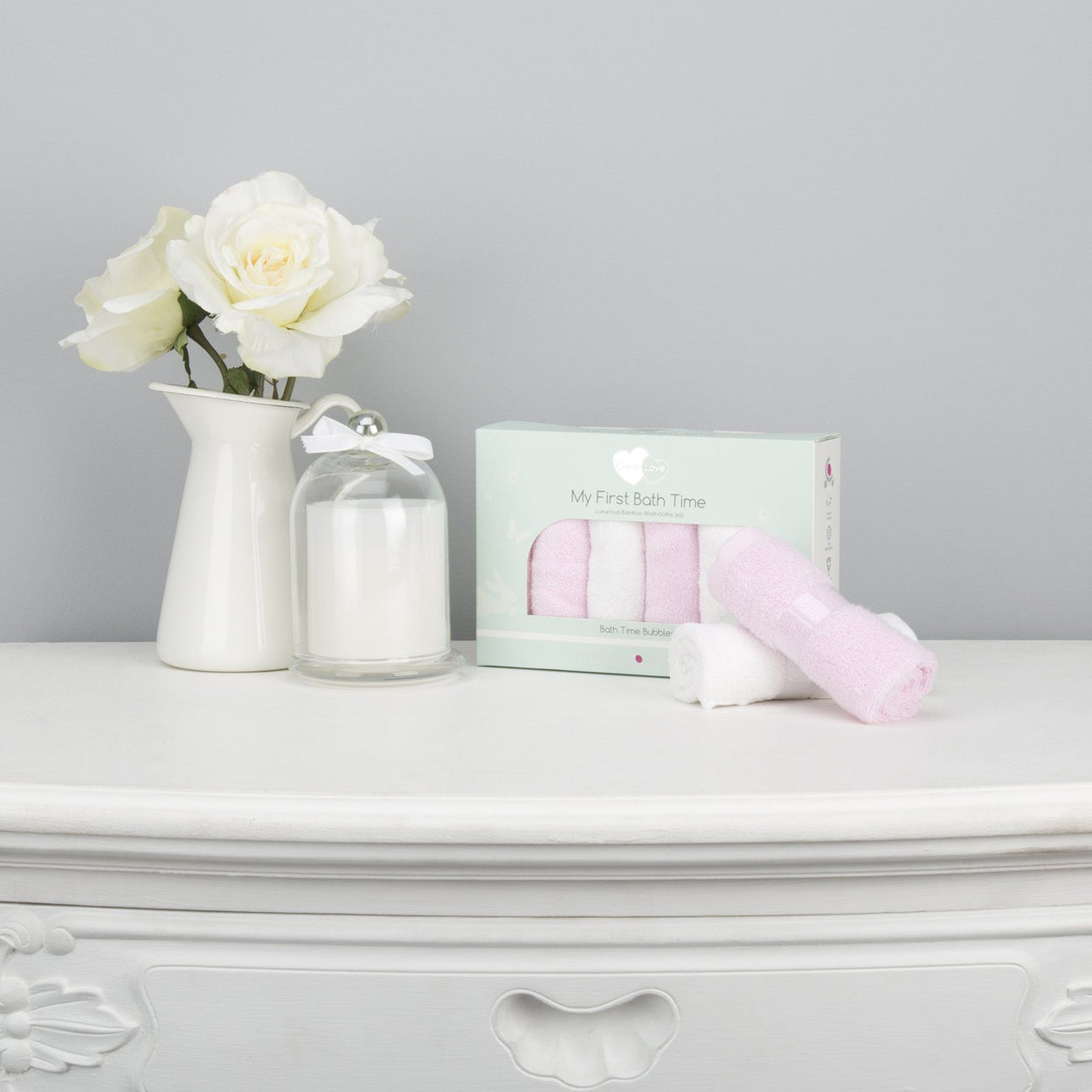 Comfi-Love My First Bath Time - Pink / White Nursery cuddleco