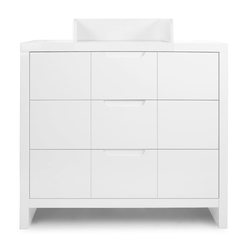 QUADRO WHITE CHEST 3 DOORS + CHANGING UNIT Furniture Childhome