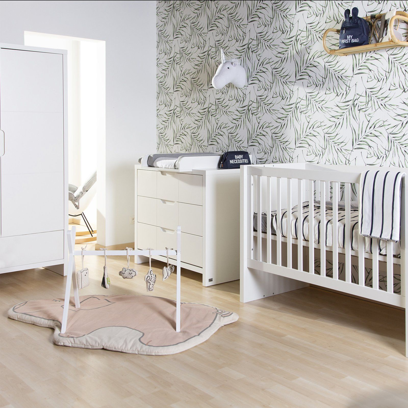 Quadro 3 piece - Cot Bed, Dresser and Wardrobe Set Furniture Childhome