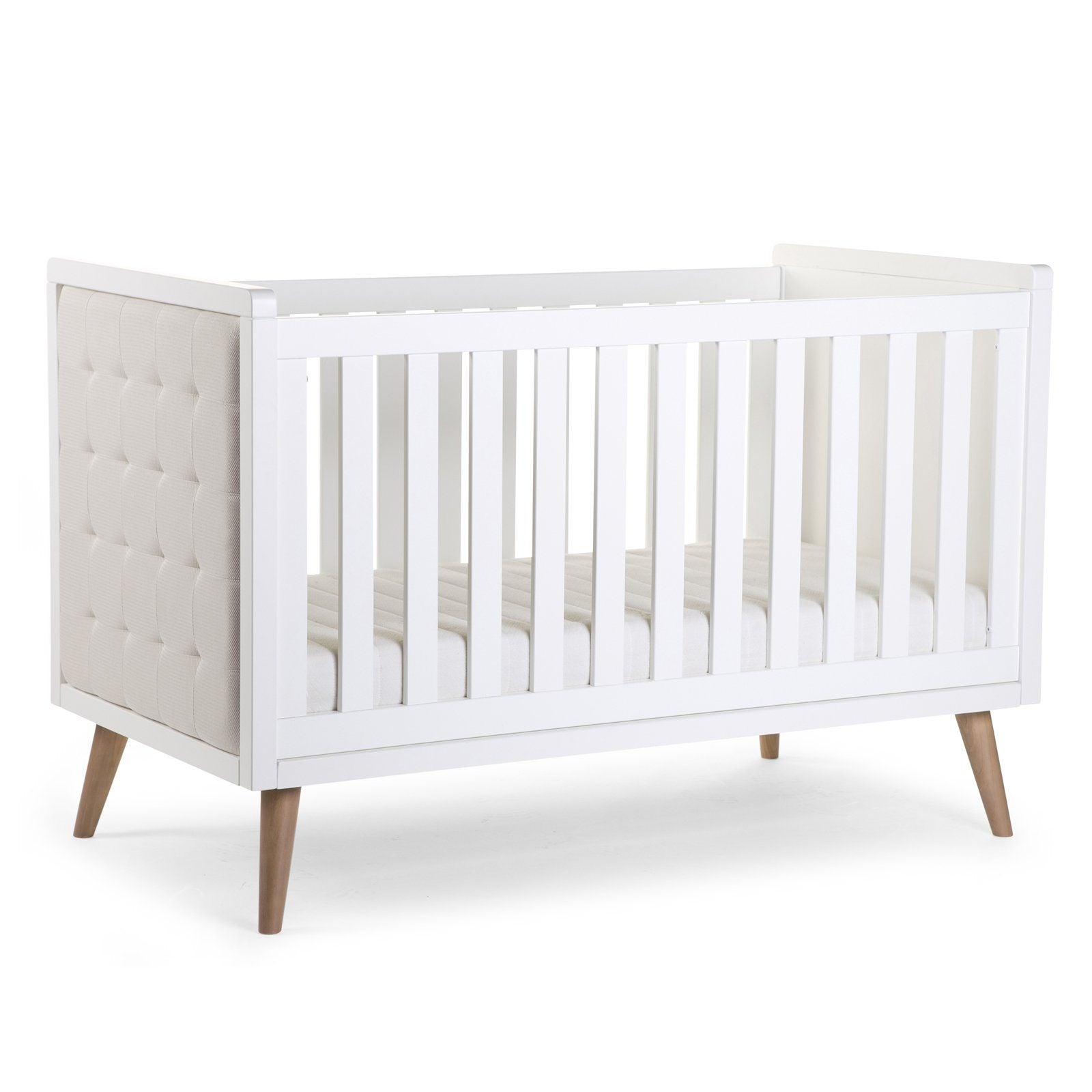 RETRO RIO WHITE COT BED 70x140cm + SLATS Furniture Childhome
