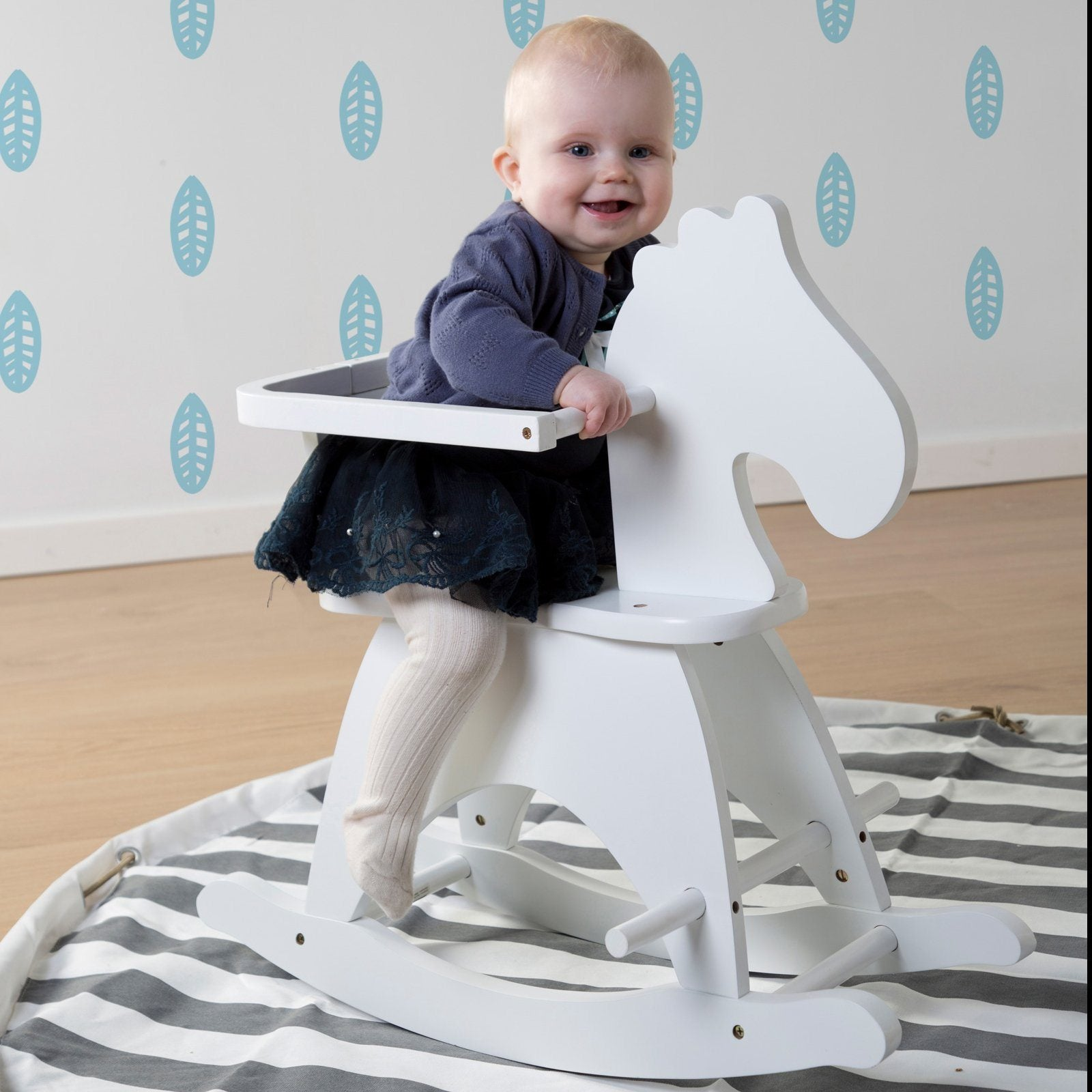 Rocking Horse White Nursery Decor Childhome
