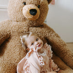 Load image into Gallery viewer, Seated Teddy Stuffed Animal Beige - 100cm Nursery Decor Childhome