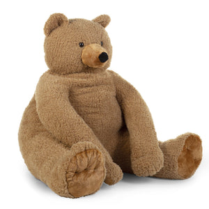 Seated Teddy Stuffed Animal Beige - 100cm Nursery Decor Childhome