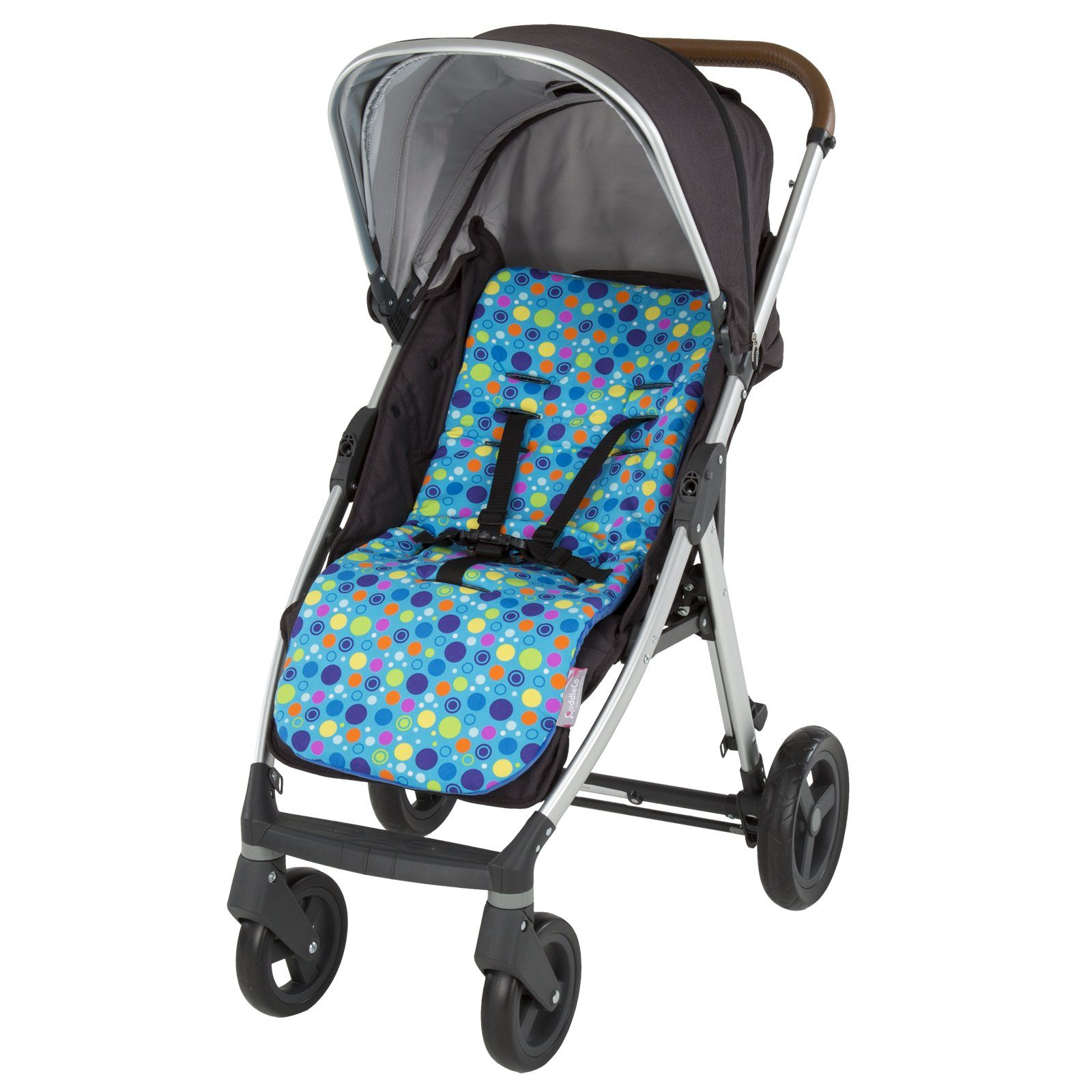 Comfi-Cush Memory Foam Stroller Liner - Spot the Dot On The Go cuddleco