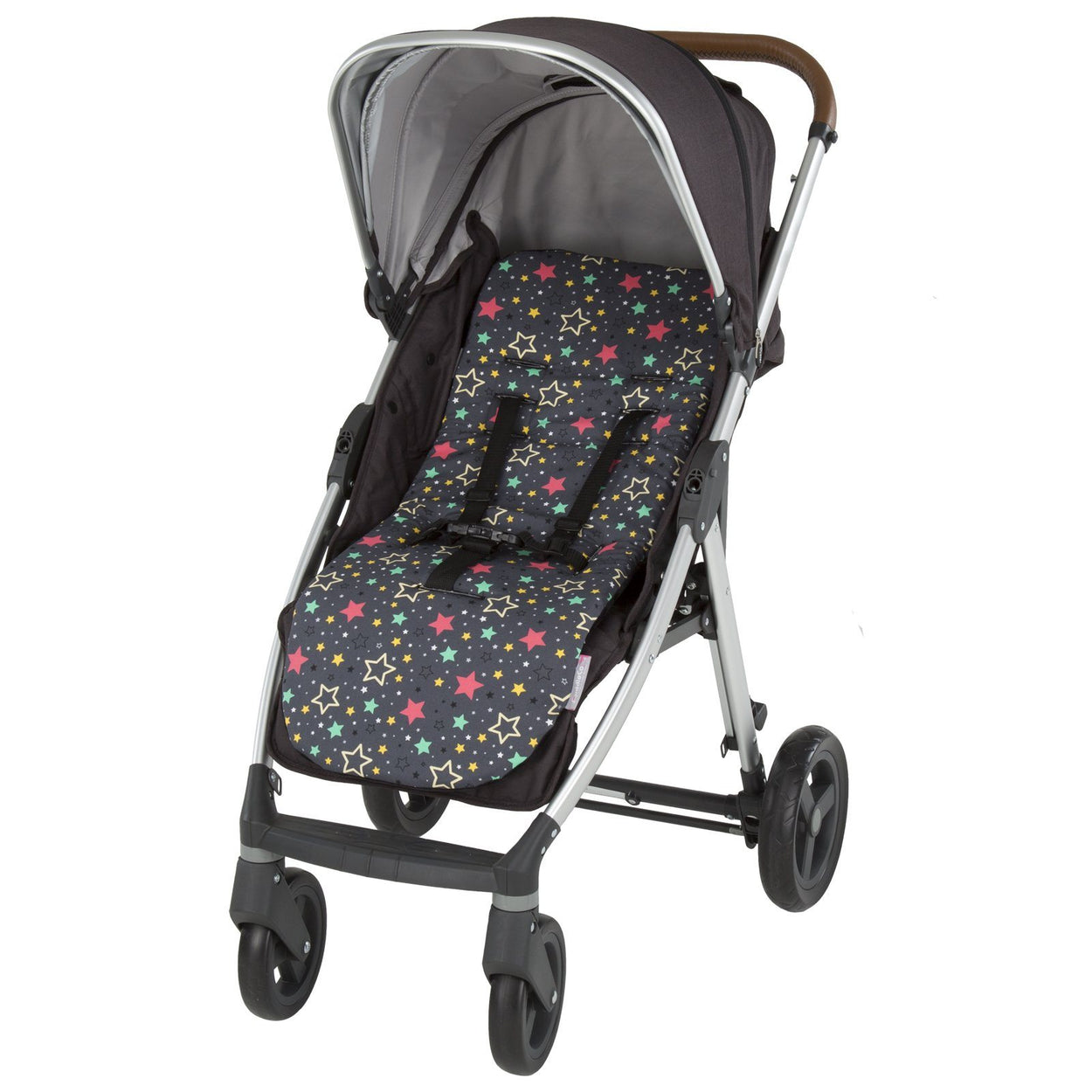 Comfi-Cush Memory Foam Stroller Liner- Star Bright On The Go cuddleco