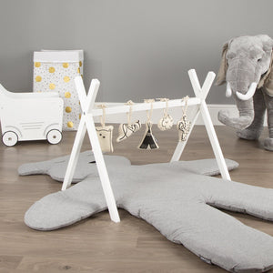 Teddy Playmat Big 150cm Jersey Grey Nursery Decor Childhome