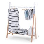 Load image into Gallery viewer, Tipi Open Clothes Stand - Natural/White Nursery Decor Childhome
