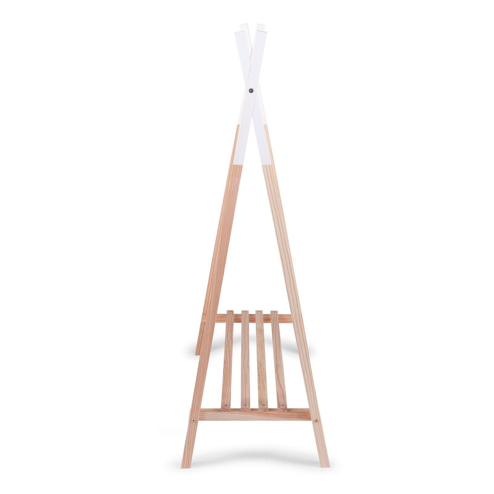 Tipi Open Clothes Stand - Natural/White Nursery Decor Childhome