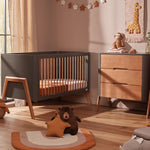 Load image into Gallery viewer, Troll Torsten 2 Piece Set - Cot and Dresser - Grey/Teak Furniture Troll