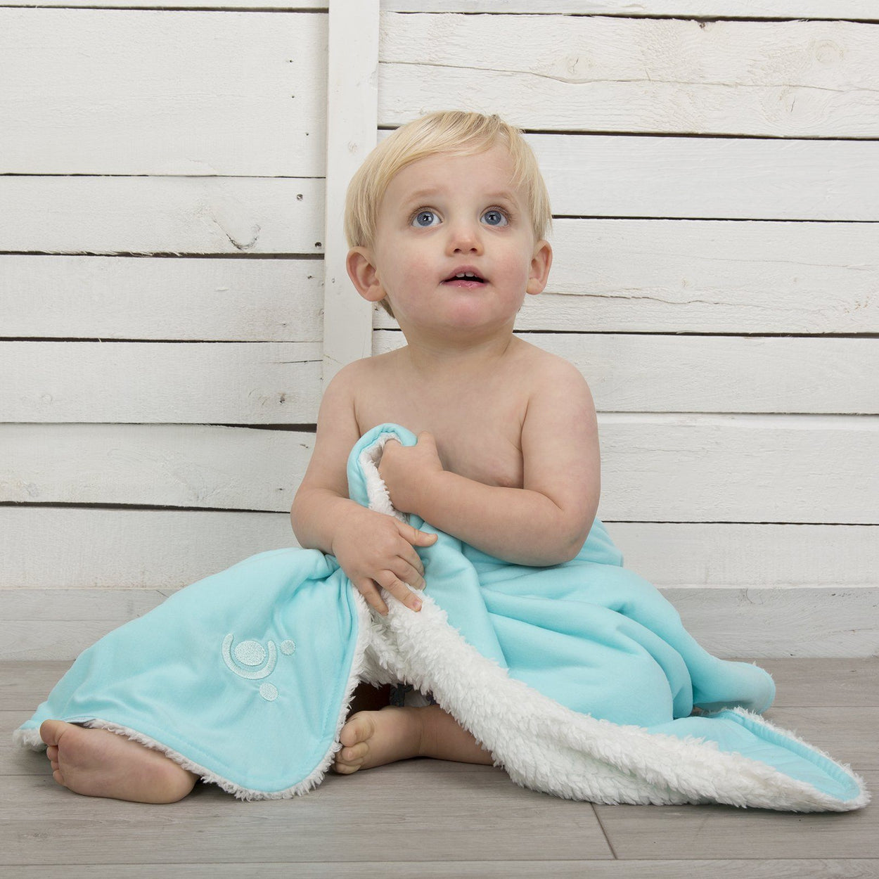 comfi cuddle reversible baby blanket dreamer blue