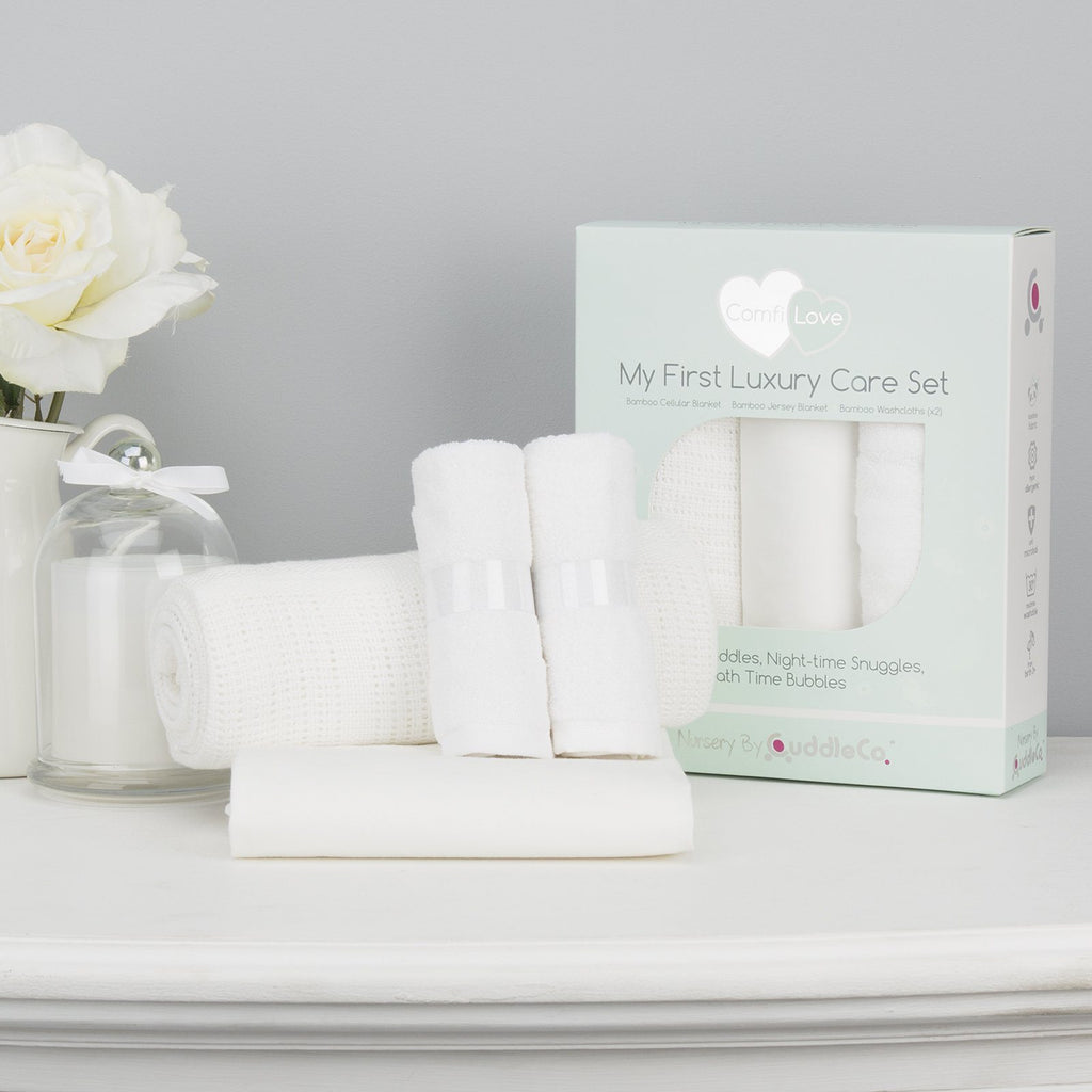 Comfi-Love My First Luxury Care Set - White Nursery cuddleco