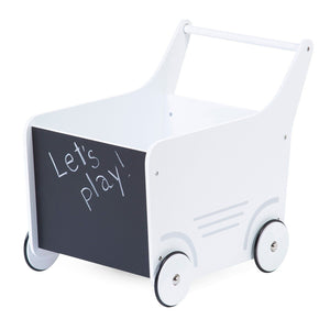 Wooden Stroller - White Nursery Decor Childhome