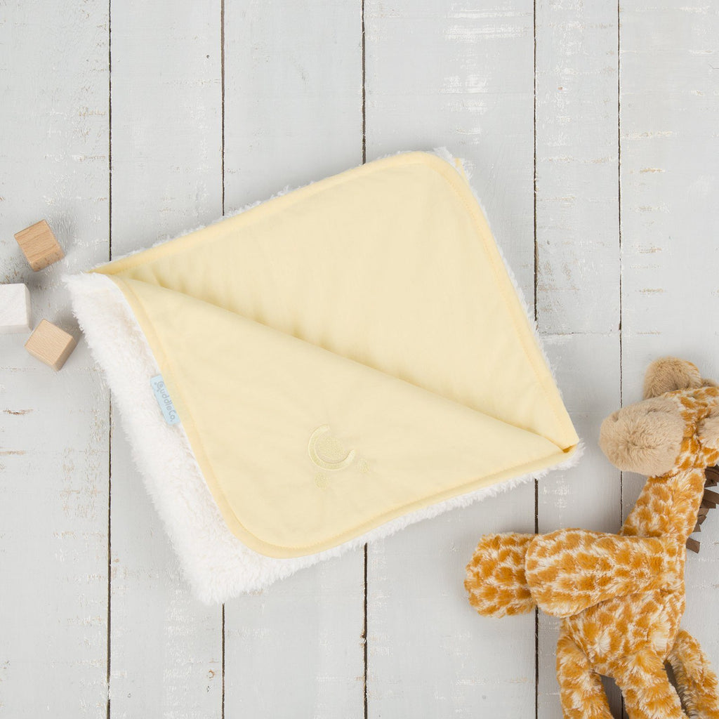 Comfi-Love Luxury Reversible Blanket - Yellow Nursery cuddleco