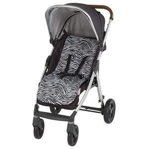Comfi-Cush Memory Foam Stroller Liner - Zebra On The Go cuddleco