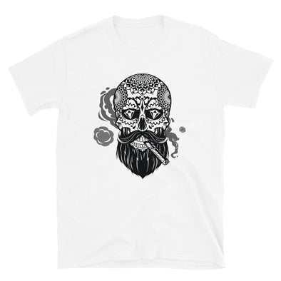Bearded Sugar Skull with Cigar T-Shirt