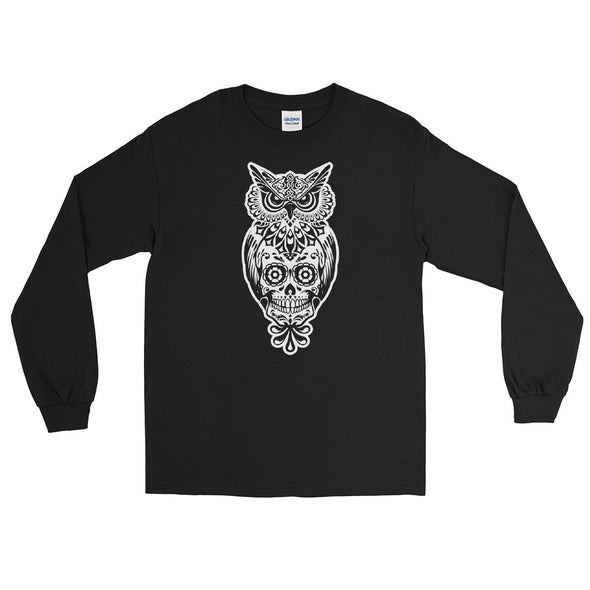 Owl Sugar Skull Long Sleeve Shirt