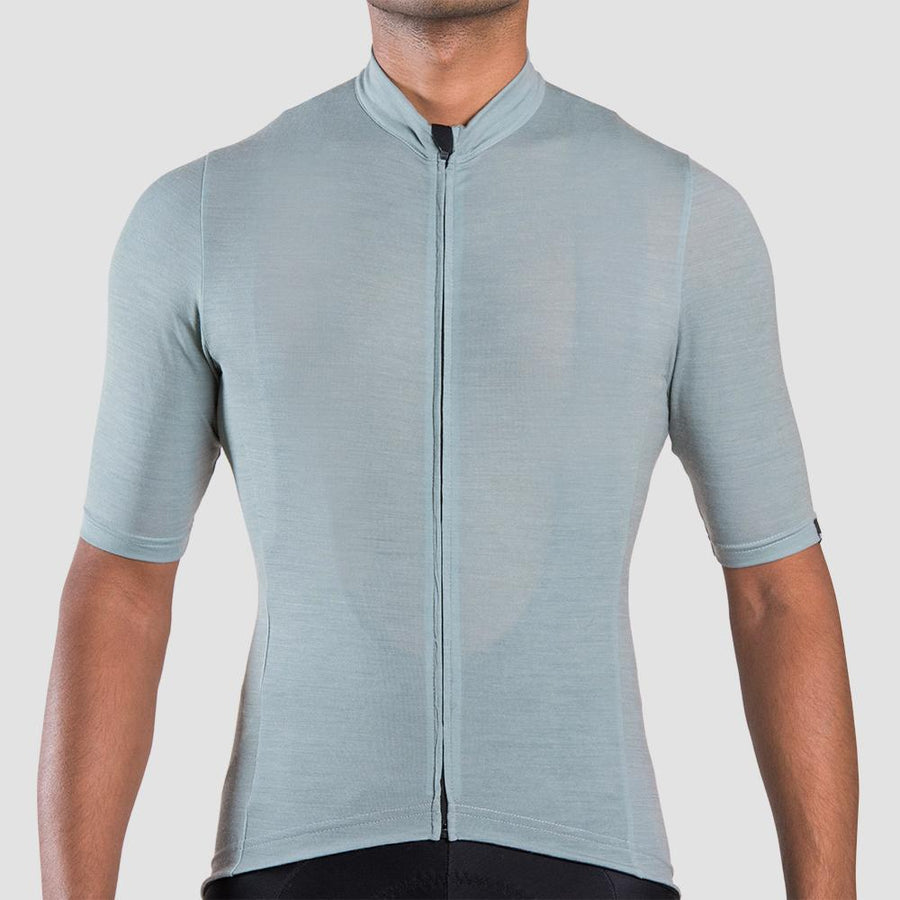 Euro Collection Men's Green Merino Jersey