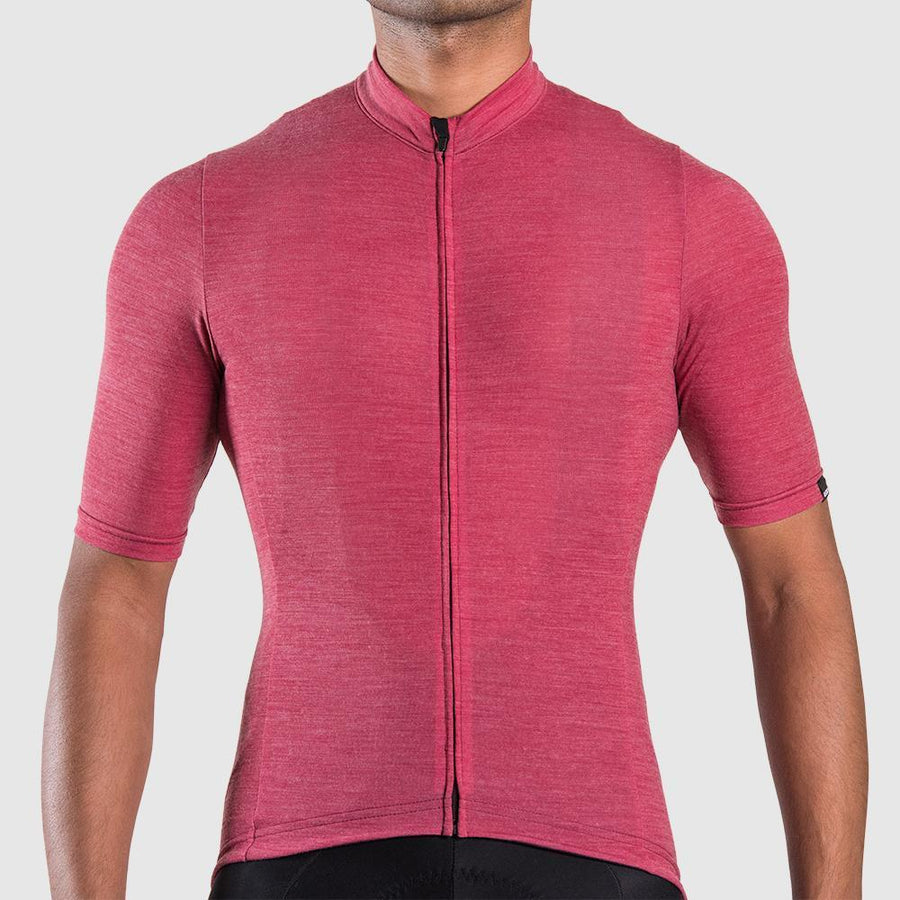 Euro Collection Men's Plum Merino Jersey