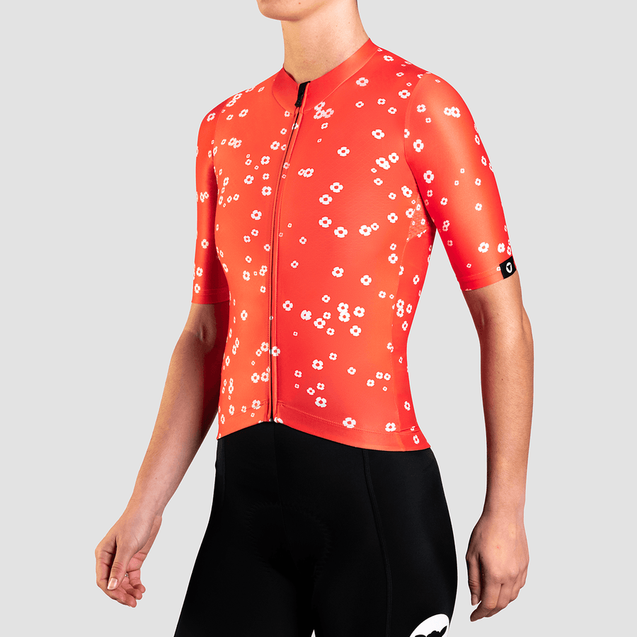 Women's Essentials TEAM Jersey - Daisy Warm Red