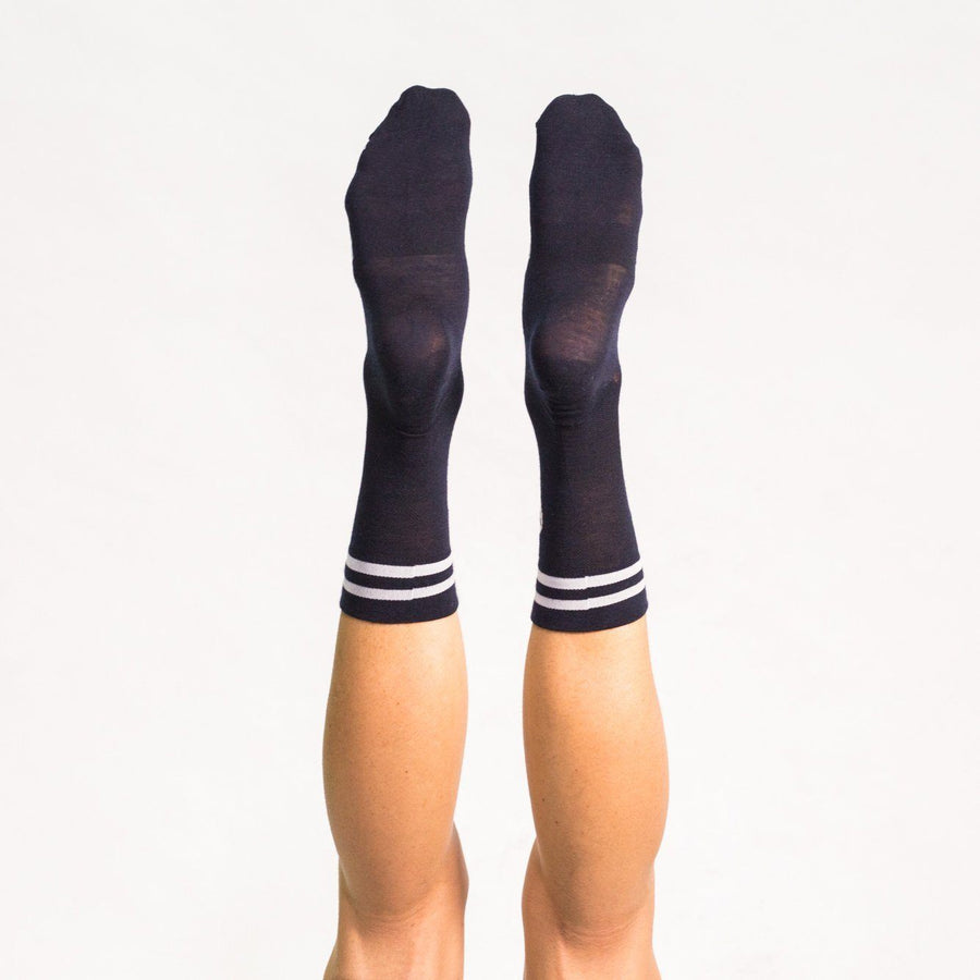 Merino Black Stripe Sock