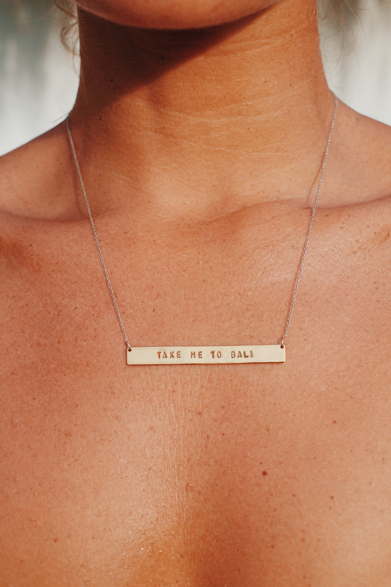 Take me to Bali Necklace - Gold