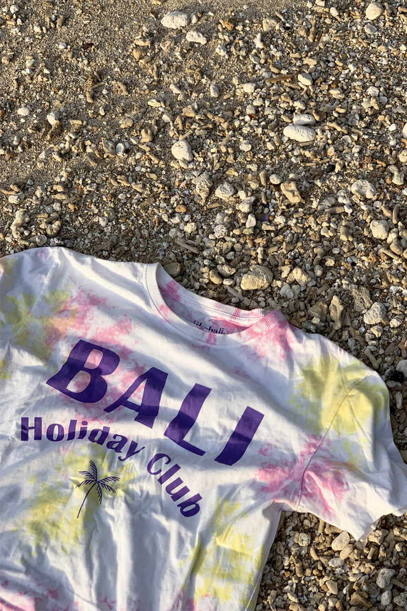 Bali Holiday Club tie dye T-shirt