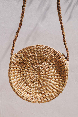Straw Roundie Bag