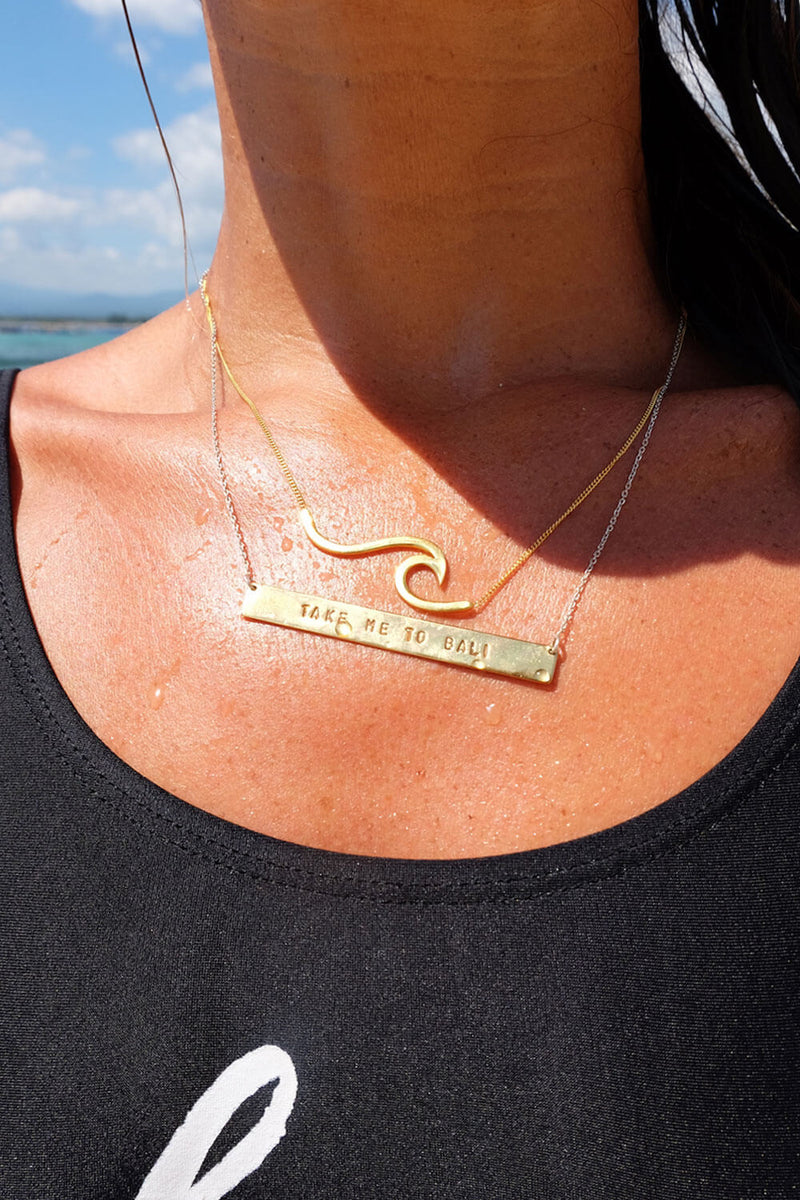 Wave Necklace - Gold