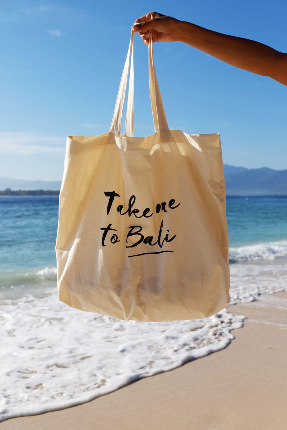 Take me to Bali Island Beach Bag - Offwhite