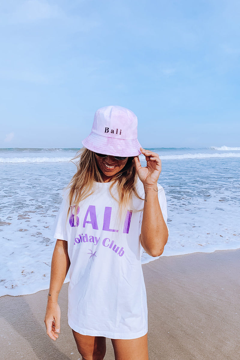 Bali Tie Dye Bucket Hat - Purple