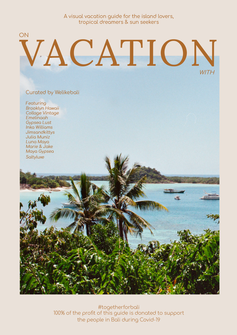ON VACATION WITH | 100% of sales will be donated!