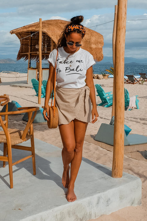 The Aloha Wrap Skirt - SAND