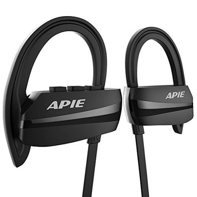 APIE Bluetooth Headphones, Wireless Earbuds Bluetooth 4.1 with microphone Sport Stereo Headset,IPX7 Waterproof earphones ,Premium Sound with Bass, Noise Cancelling, for Gym Running Workout