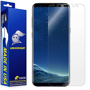 ArmorSuit - Galaxy S8 MilitaryShield Lifetime Replacements [Case Friendly] Screen Protector for Samsung Galaxy S8