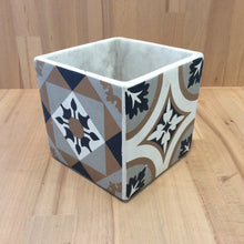 Tiled Square Pot