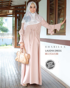 LAUDYA DRESS - MILKTEA