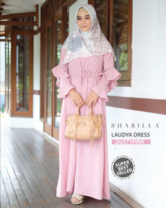 LAUDYA DRESS - DUSTYPINK