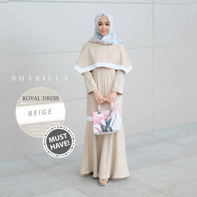 ROYAL DRESS - BEIGE