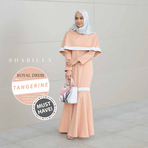 ROYAL DRESS - TANGERINE