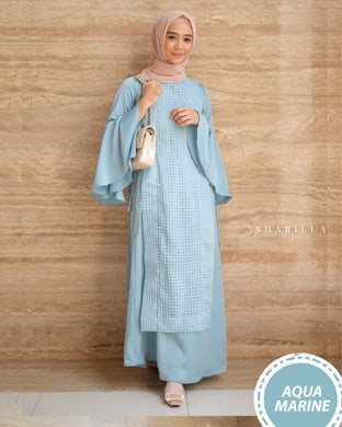 SHABILLA DRESS - AQUAMARINE