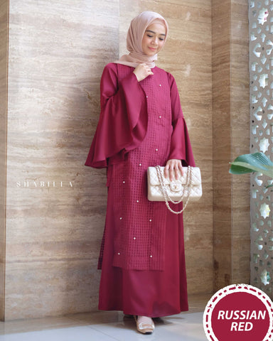 SHABILLA DRESS - RUSSIAN RED