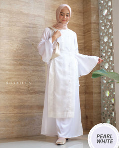 SHABILLA DRESS - PEARL WHITE