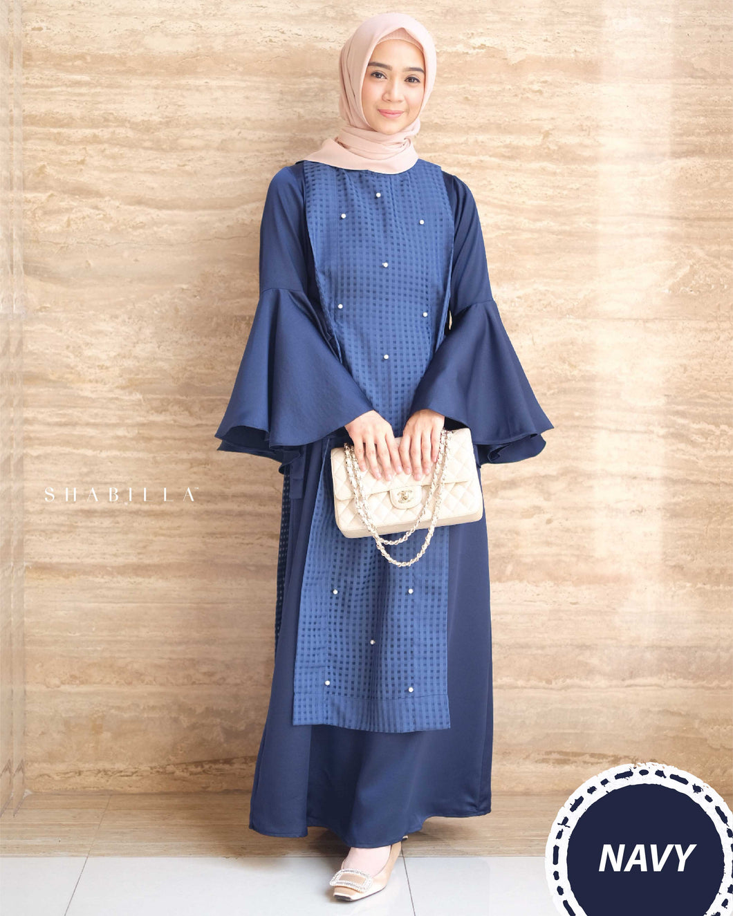 SHABILLA DRESS - NAVY
